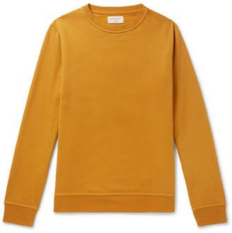 Oliver Spencer Loungewear Harris Fleeceback Cotton-Jersey Sweatshirt
