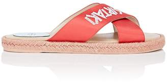 Phi-male Women's Wisdom Embroidered Satin Espadrille Sandals