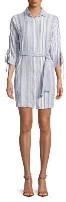 Gabby Skye Stripe Cotton Shirtdress