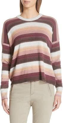 ATM Anthony Thomas Melillo Stripe Cotton & Cashmere Sweater