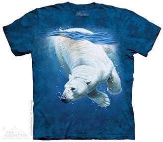The Mountain Cotton Polar Bear Dive Design Novelty Adult T-Shirt ()