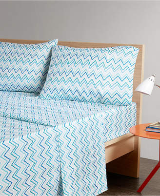 Jla Home Intelligent Design Multicolor Chevron 4-pc Full Microfiber Printed Sheet Bedding
