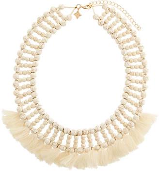 Panacea Beaded Howlite Tassel Necklace