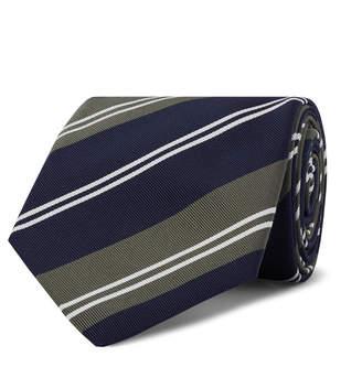 Kingsman + Drake's 8cm Striped Silk And Cotton-Blend Twill Tie