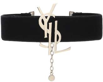 Saint Laurent Velvet choker