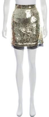 Proenza Schouler Sequin Mini Skirt Gold Sequin Mini Skirt