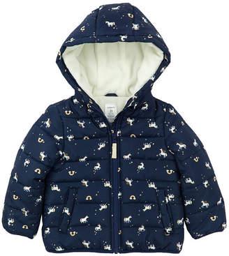Carter's Midweight Pattern Puffer Jacket - Girls-Preschool