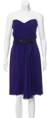 J. Mendel Silk Strapless Dress