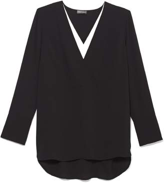 Vince Camuto Double-placket Tunic