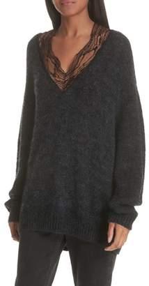 IRO Diamon Lace Trim Sweater