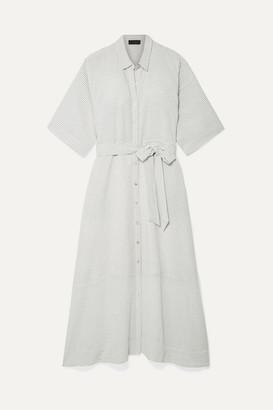 Hatch The Elsa Striped Voile Midi Dress - White