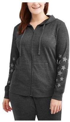 Women's Plus Star Active Hoodie Sweatshirt