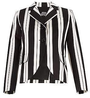 Marc Jacobs (マーク ジェイコブス) - Marc Jacobs Marc Jacobs Women's Redux Grunge Wide Stripe Stretch Cotton Blazer