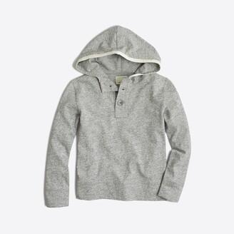 J.Crew Factory Boys' heathered henley hoodie