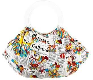 John Galliano Newsprint Handle Bag