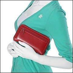 Lodis Audrey Zip-Around Clutch (Red) - Bags and Luggage