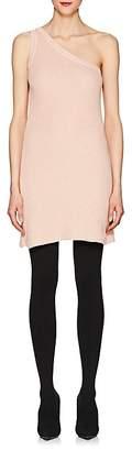 Taverniti So Ben Unravel Project Women's Cotton-Cashmere One-Shoulder Minidress
