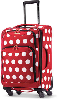 "Disney Minnie Mouse Polka Dot 21"" Spinner Suitcase by American Tourister $200 thestylecure.com"