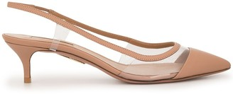 Aquazzura low-heel slingback pump
