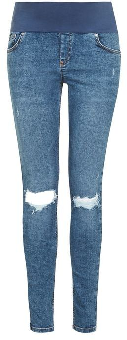 TopshopTopshop Maternity floral hand embroidered jamie jeans