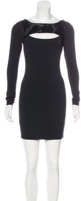Elizabeth and James Cow Hide-Accented Mini Dress