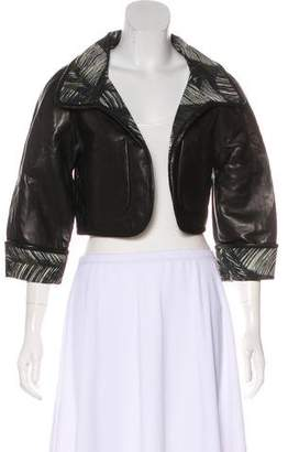 DSQUARED2 Leather Crop Jacket w/ Tags