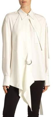 Proenza Schouler Oversized Button-Front Shirt with Removable Gilet