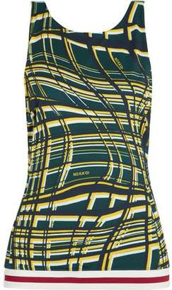 NO KA 'OI Maia Printed Stretch-Jersey Top
