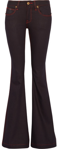 Burberry Burberry - Low-rise Flared Jeans - Dark denim