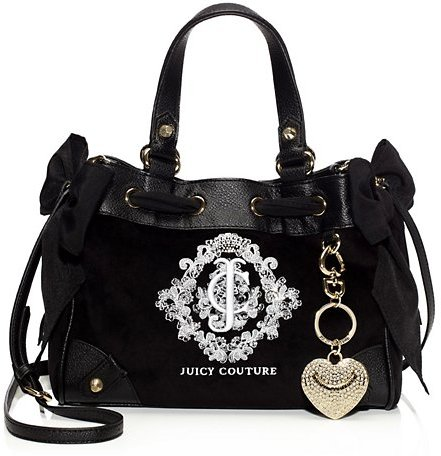 Juicy Couture Snowflake Velour Mini Daydreamer Handbag
