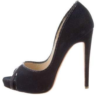 Alexandre Birman Embossed Platform Pumps