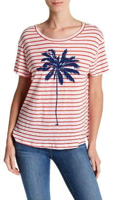 Sundry Striped Palm Tee