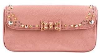 Miu Miu Crystal & Stud Embellished Clutch