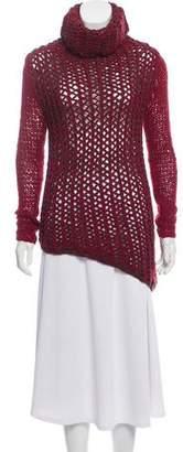 Helmut Lang Open Knit Turtleneck Sweater