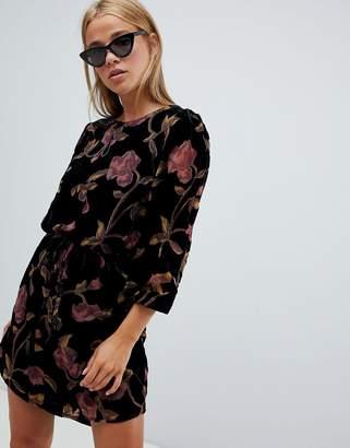 New Look velvet burnout tunic dress