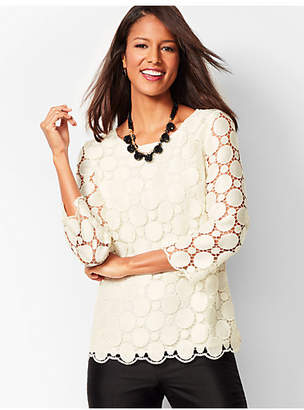 Talbots Opulent Dot Lace Top
