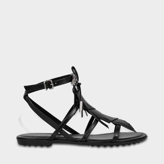 Tod's Rubber sole sandals with fringe