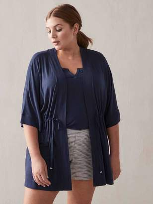 Lounge Robe with Dolman Sleeves - Addition Elle
