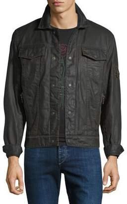 John Varvatos Men's Zip-Pocket Jean Jacket