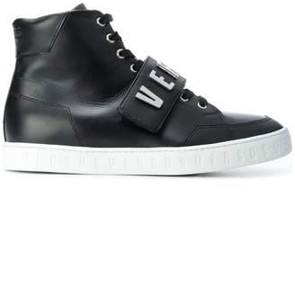 Versus logo high top sneakers