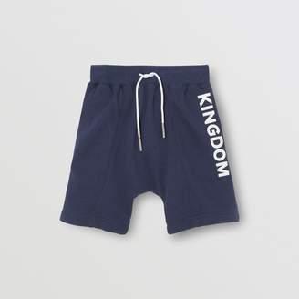 Burberry Kingdom Motif Cotton Drawcord Shorts