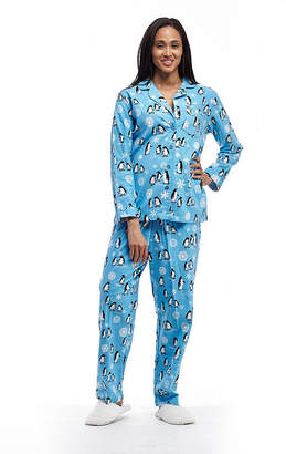 La Cera Plus-Size Long Sleeve Flannel PJs - Plus