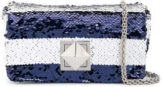 Sonia Rykiel striped sequinned crossbody bag