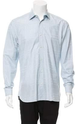 Burberry Woven Plaid Button-Up Shirt