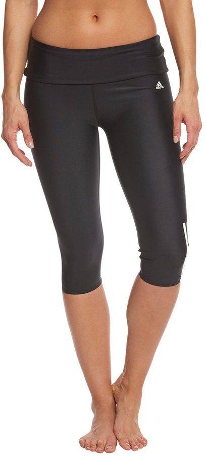 Adidas Women's Solid Roll Down Waist Capri Legging 8151392