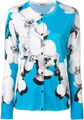 Roberto Cavalli Orchid print blouse