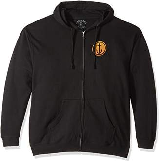 Co Captain Fin Men's Tally-ho Fleece Zip-up Hooded Anchor Sweatshirt