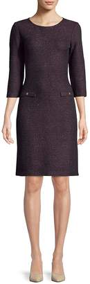 St. John Women's Metallic Quarter-Sleeve Sheath Dress