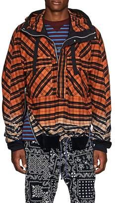 Sacai Men's Gradient Plaid Cotton Flannel Anorak