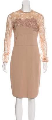 Elie Saab Long Sleeve Midi Dress